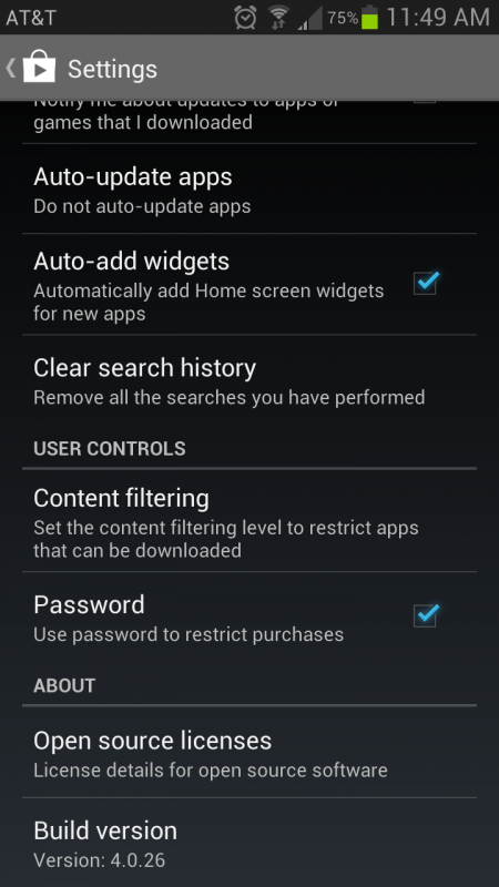 Play Store 4.0.26