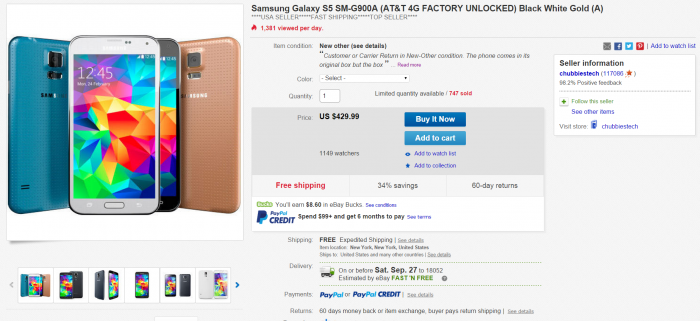 galaxy-s5-ebay-deal